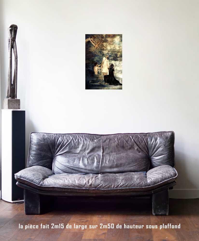 L'Amoureux, 40 x 60 cm, série les lames de l'Âme par Justine Darmon