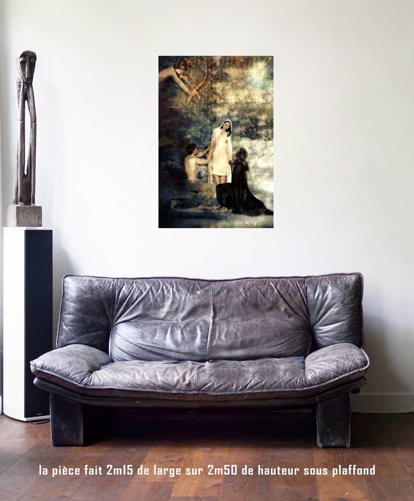 l'Amoureux, 60 x 90 cm, série les lames de l'Âme par Justine Darmon