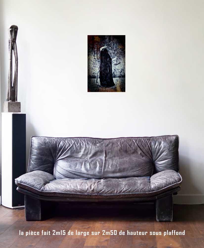 L'Arcane Sans Nom, 40 x 60 cm, série les lames de l'Âme par Justine Darmon