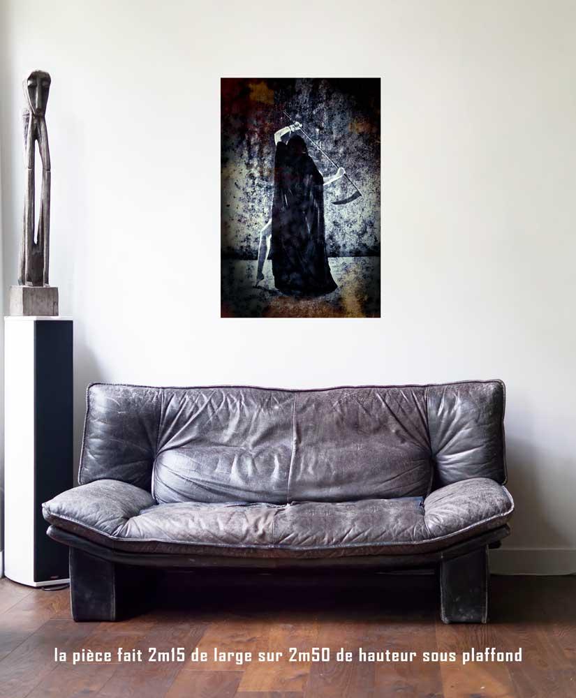 L'Arcane sans Nom, 60 x 90 cm, série les lames de l'Âme par Justine Darmon