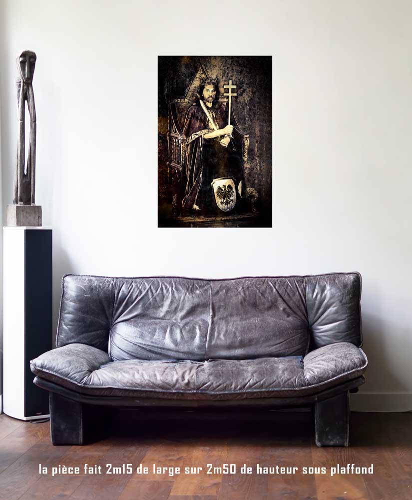 L'Empereur, 60 x 90 cm, série les lames de l'Âme par Justine Darmon