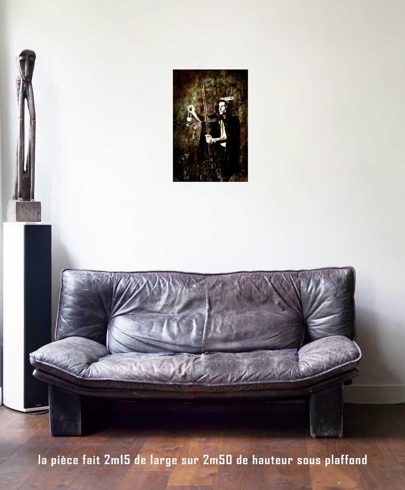 L'ermite, 40 x 60 cm, série les lames de l'Âme par Justine Darmon