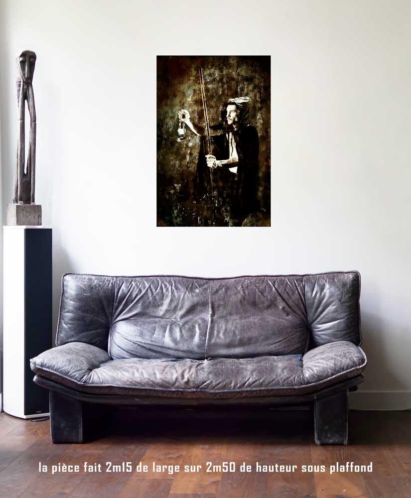 L'Ermite, 60 x 90 cm, série les lames de l'Âme par Justine Darmon