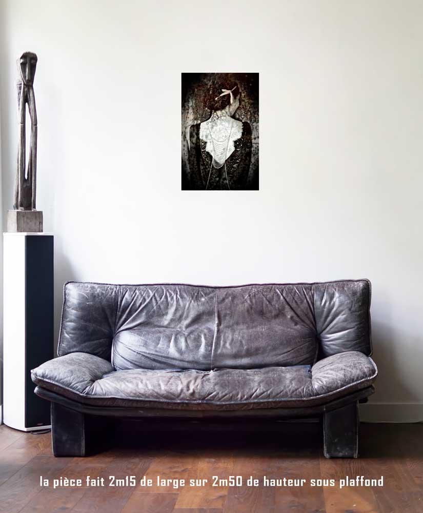 L'Impératrice, 40 x 60 cm, série les lames de l'Âme par Justine Darmon
