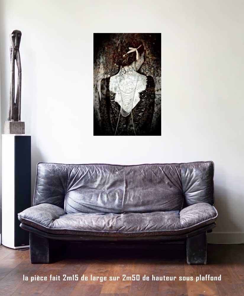 L'Impératrice, 60 x 90 cm, série les lames de l'Âme par Justine Darmon