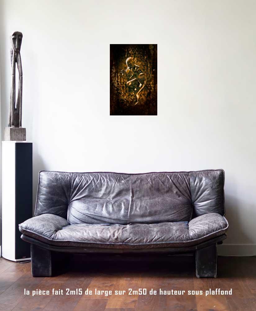 Le Diable,40 x 60 cm, série les lames de l'Âme par Justine Darmon