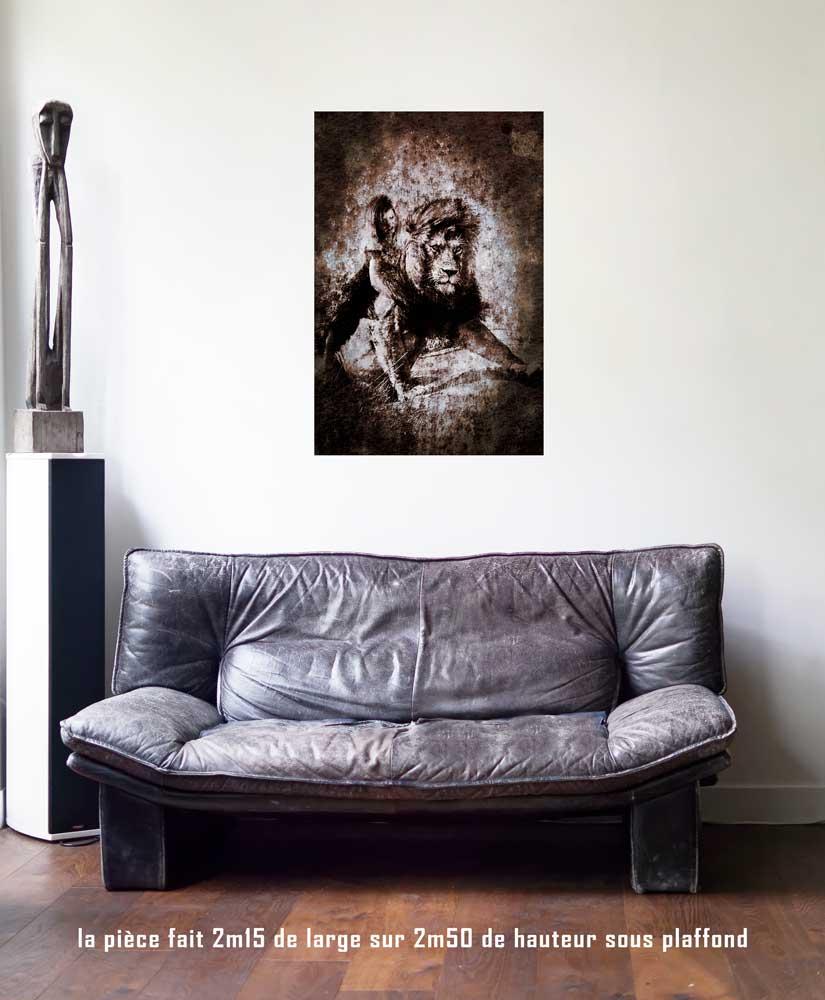 La Force, 60 x 90 cm, série les lames de l'Âme par Justine Darmon