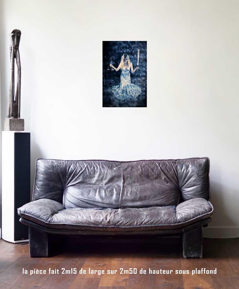 la Justice, 40 x 60 cm, série les lames de l'Âme par Justine Darmon
