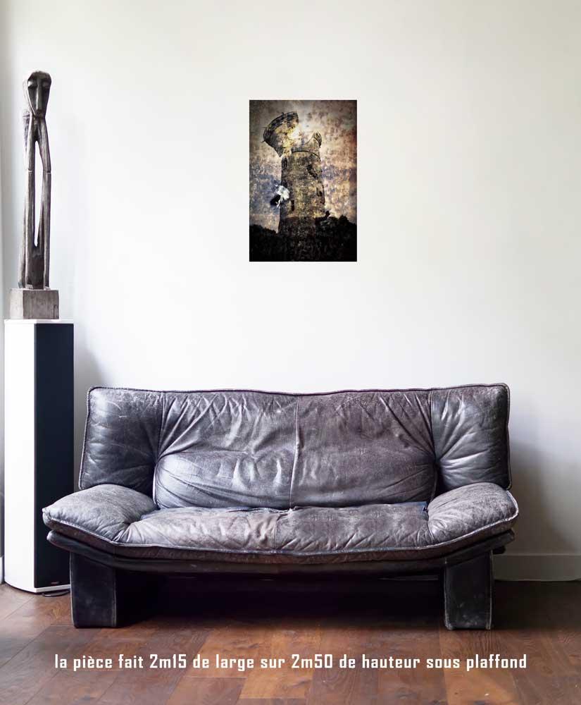 la Maison Dieu, 40 x 60 cm, série les lames de l'Âme par Justine Darmon