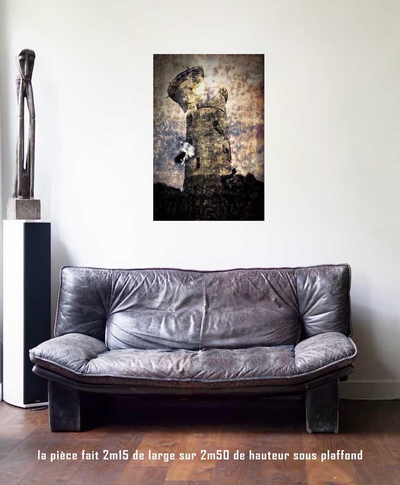 La Maison Dieu, 60 x 90 cm, série les lames de l'Âme par Justine Darmon