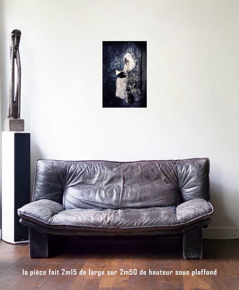 La Papesse, 40 x 60 cm, série les lames de l'Âme par Justine Darmon