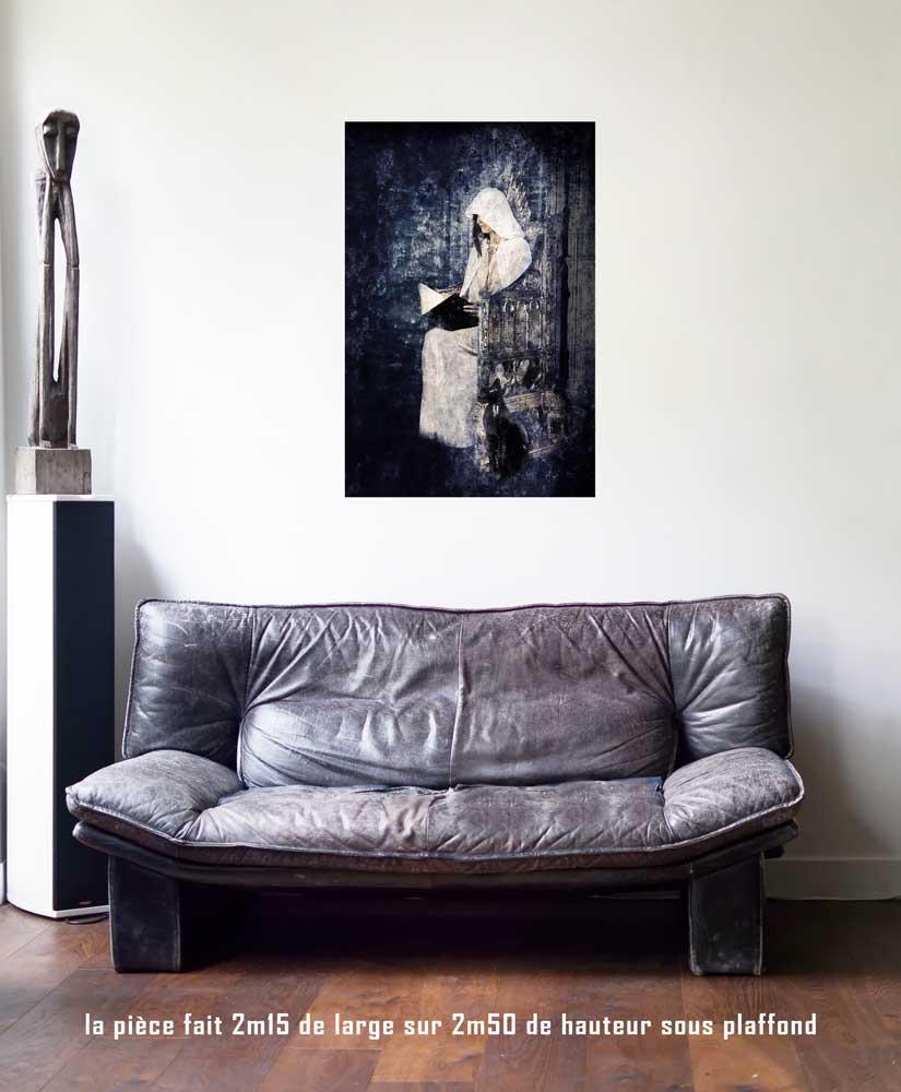 La papesse, 60 x 90 cm, série les lames de l'Âme par Justine Darmon