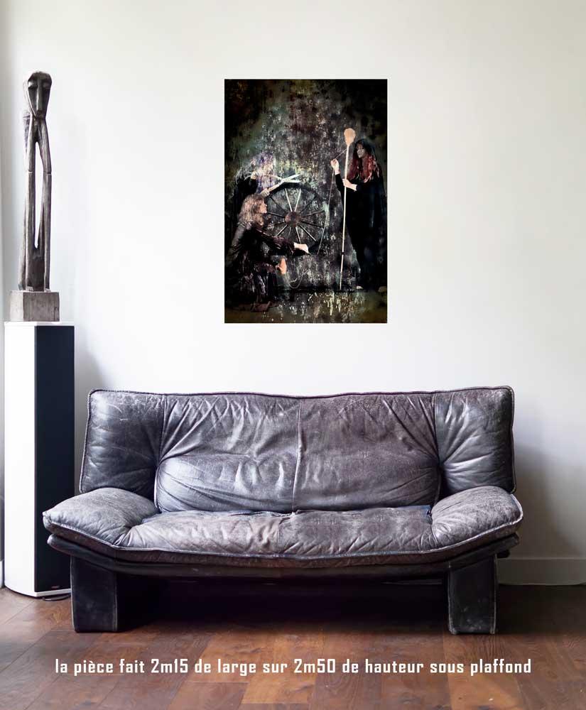 La Roue de Fortune, 60 x 90 cm, série les lames de l'Âme par Justine Darmon
