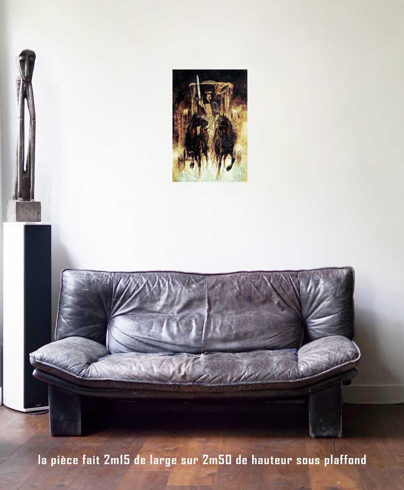 Le Chariot, 40 x 60 cm, série les lames de l'Âme par Justine Darmon