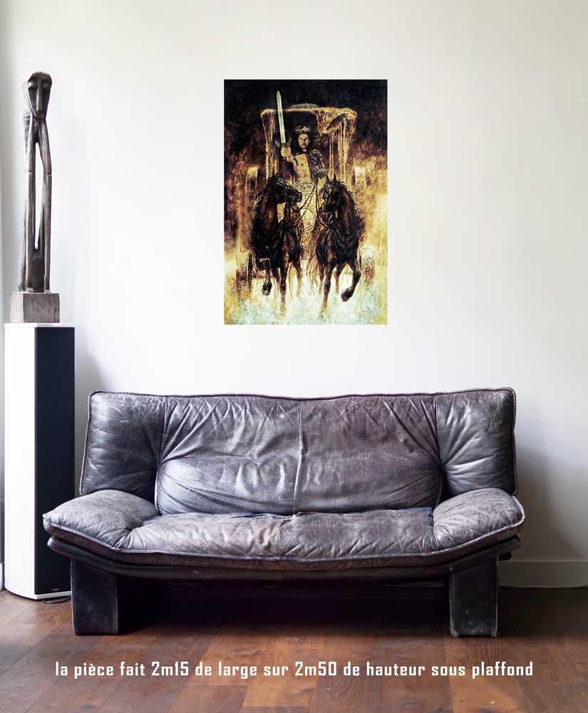 Le Chariot, 60 x 90 cm, série les lames de l'Âme par Justine Darmon
