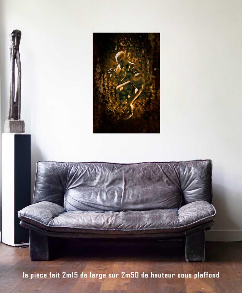 le Diable, 60 x 90 cm, série les lames de l'Âme par Justine Darmon