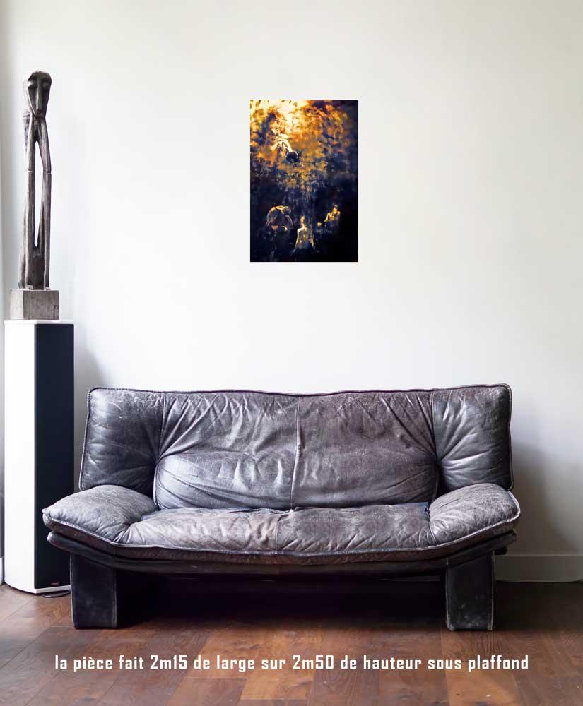 Le Jugement, 40 x 60 cm, série les lames de l'Âme par Justine Darmon