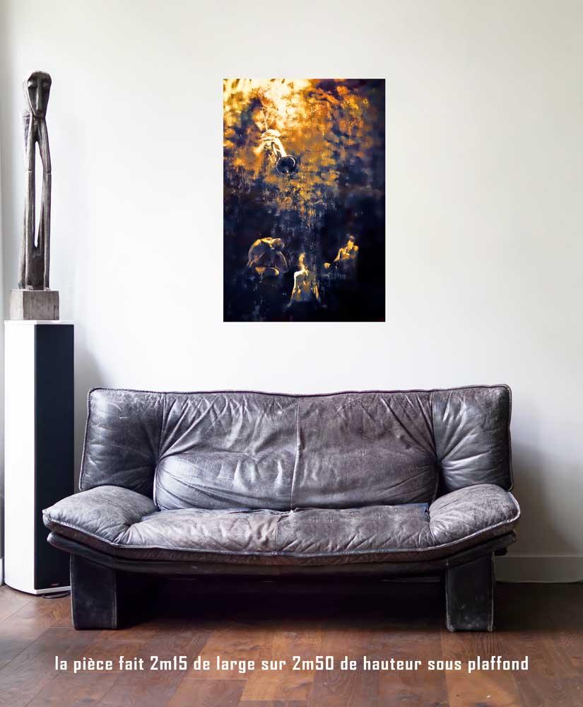 Le Jugement, 60 x 90 cm, série les lames de l'Âme par Justine Darmon