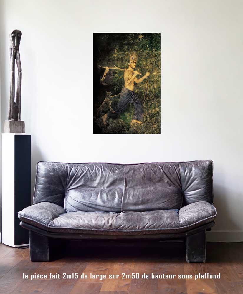 Le Mat, 60 x 90 cm, série les lames de l'Âme par Justine Darmon