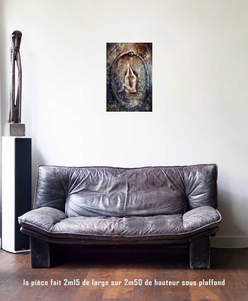 Le Monde, 40 x 60 cm, série les lames de l'Âme par Justine Darmon