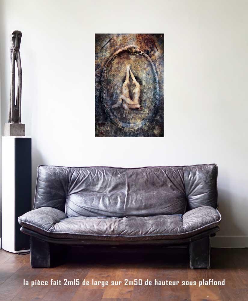Le Monde, 60 x 90 cm, série les lames de l'Âme par Justine Darmon