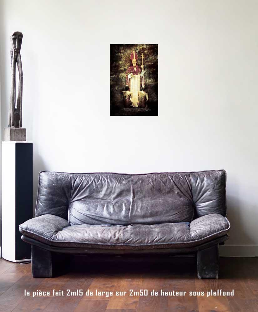 Le Pape, 40 x 60 cm, série les lames de l'Âme par Justine Darmon