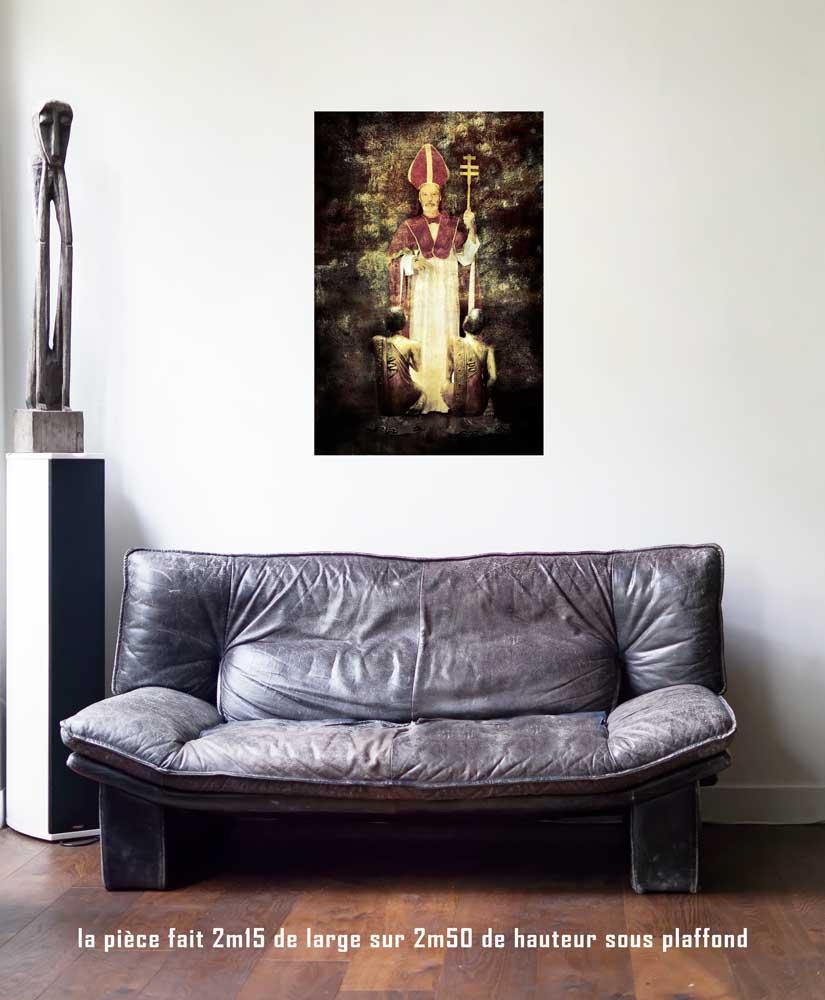 Le Pape, 60 x 90 cm, série les lames de l'Âme par Justine Darmon