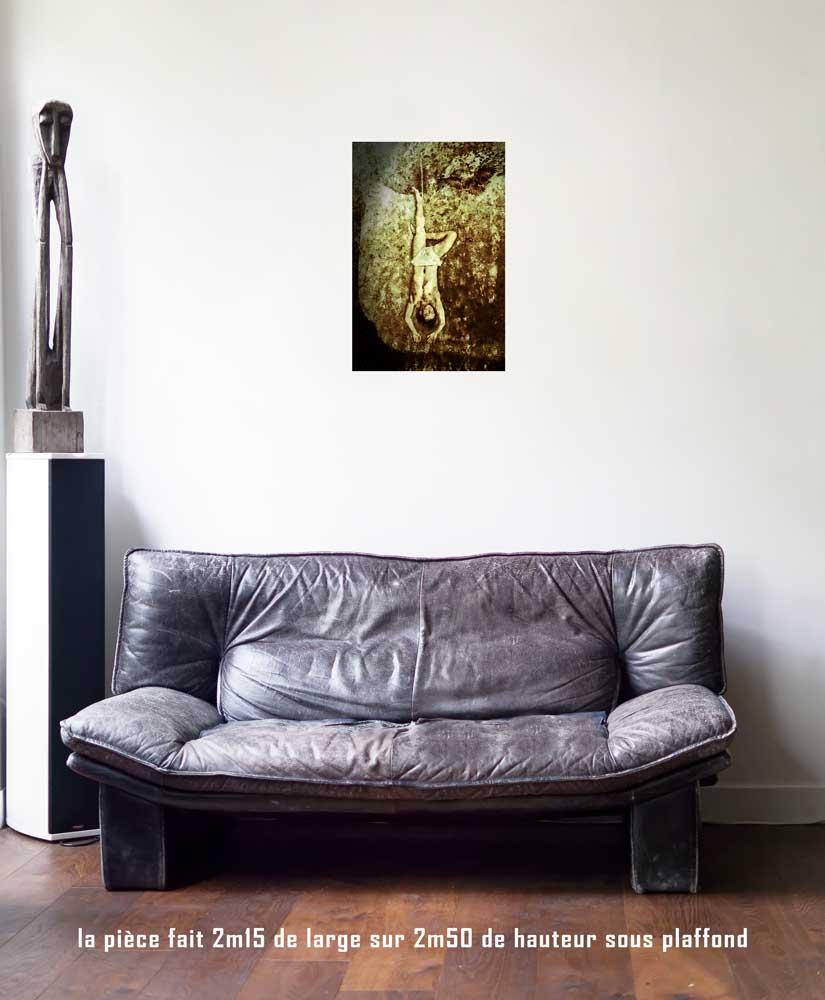 Le Pendu, 40 x 60 cm, série les lames de l'Âme par Justine Darmon