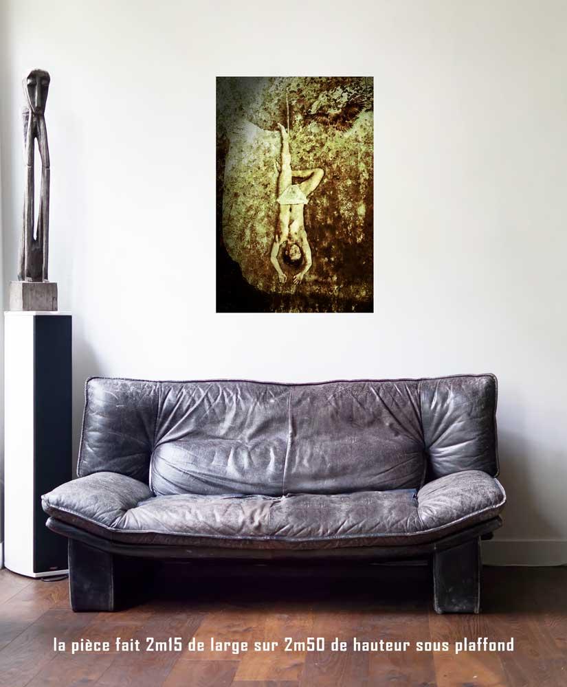 Le Pendu, 60 x 90 cm, série les lames de l'Âme par Justine Darmon