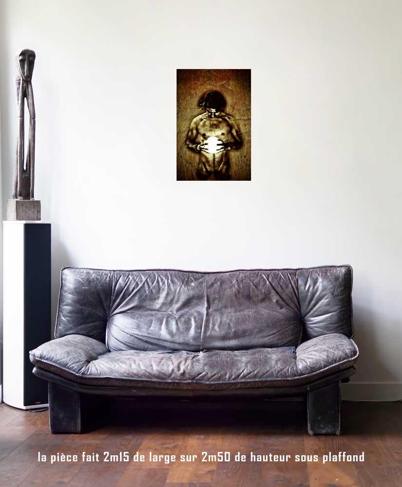 Le Soleil, 40 x 60 cm, série les lames de l'Âme par Justine Darmon