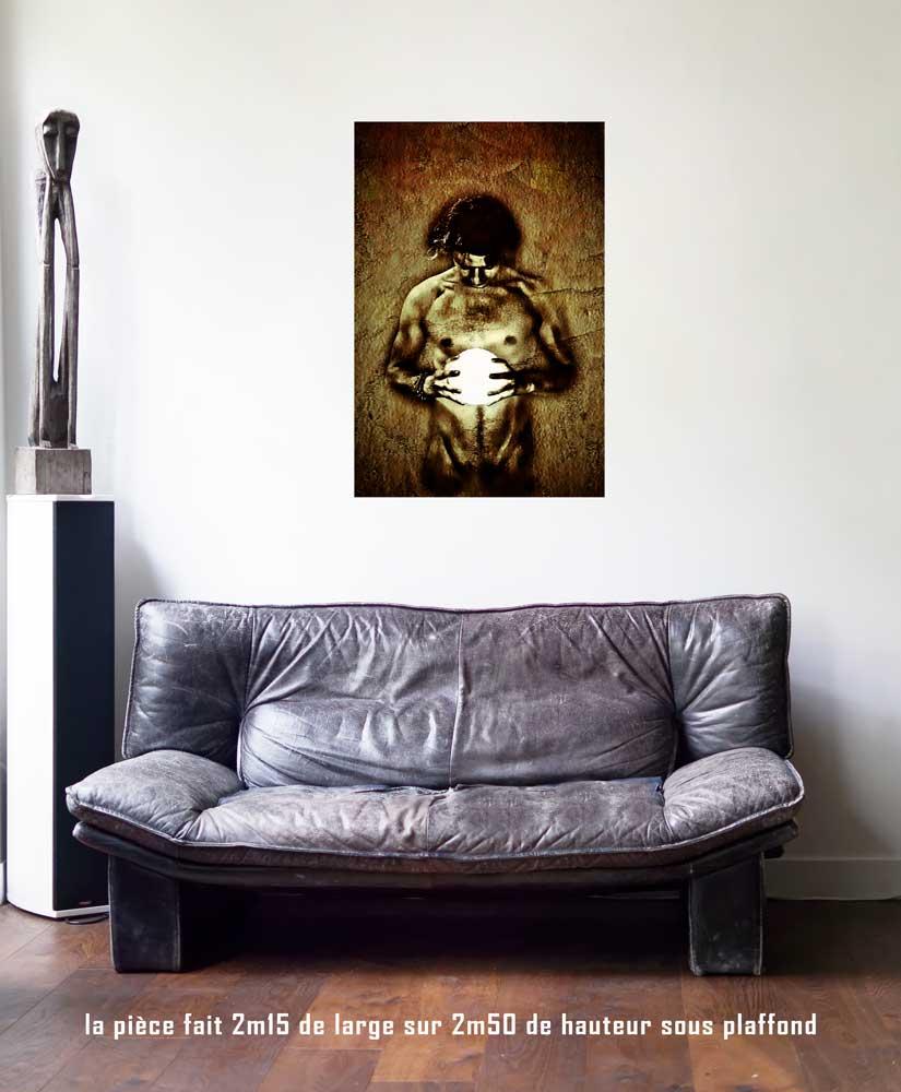 Le Soleil, 60 x 90 cm, série les lames de l'Âme par Justine Darmon