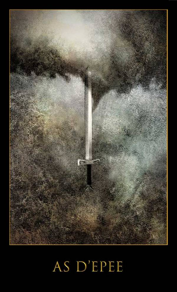 Un d'épée -Jeu Les lames de l'Âme par Justine darmon
