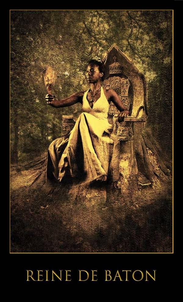 Reine de baton -Jeu Les lames de l'Âme par Justine darmon