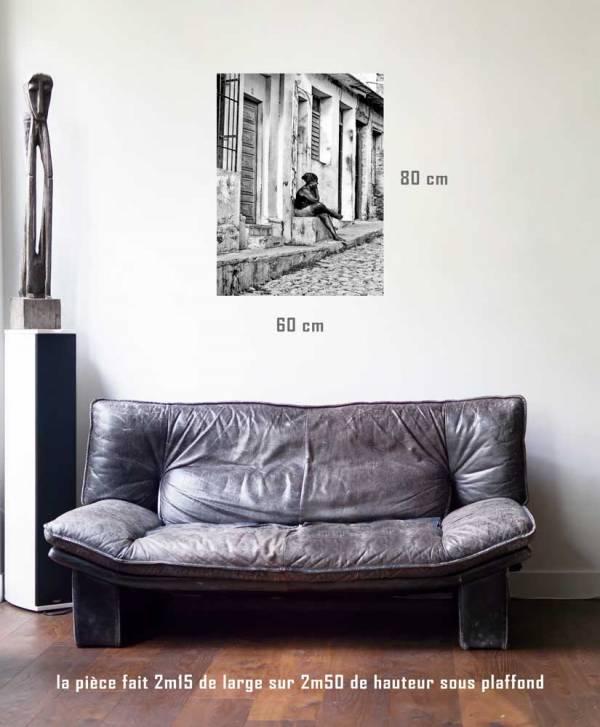 L'attente-tirage en situation-80 x 60- Cuba, au delà des couleurs par Justine Darmon