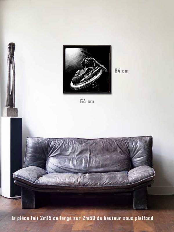 Le Dresseur de serpent tirages 80 x 80 us-box-Série Music Spirit par Justine Darmon