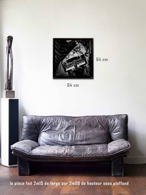 Le pianiste tirages 60 x 60 us-box-Série Music Spirit par Justine Darmon