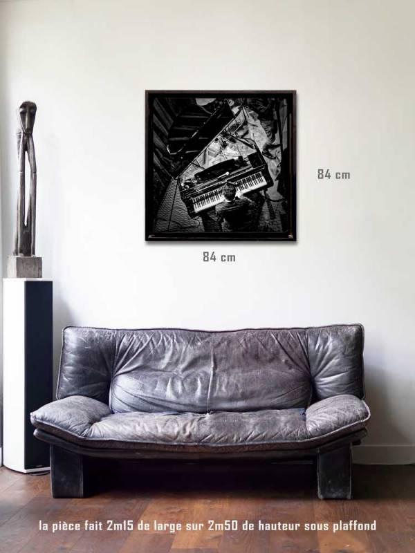 Le pianistetirages 80 x 80 us-box-Série Music Spirit par Justine Darmon