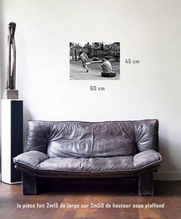 Le Traineau de fortune-tirage en situation-45 x 60- Cuba, au delà des couleurs par Justine Darmon