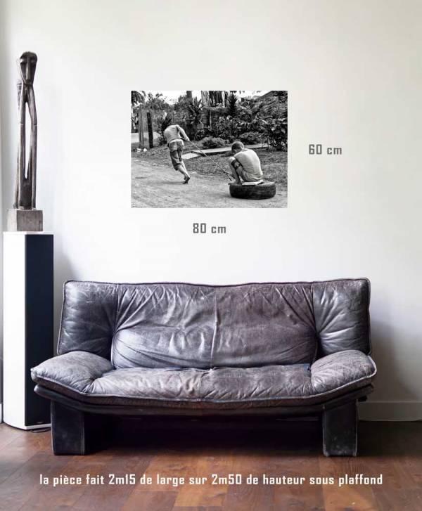 Le traineau-tirage en situation-80 x 60- Cuba, au delà des couleurs par Justine Darmon