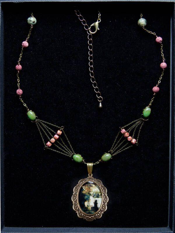 Collier n6 (Grand pendentif), Les bijoux des lames du Tarot par Justine Darmon